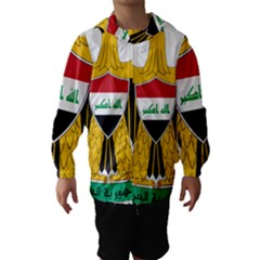 Coat Of Arms Of Iraq  Hooded Wind Breaker (kids) by abbeyz71