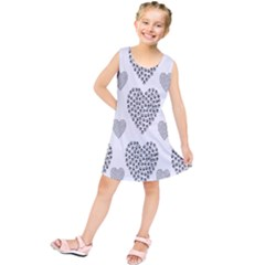 Black Paw Hearts Love Animals Kids  Tunic Dress by Mariart