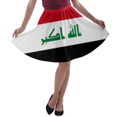 Flag Of Iraq A Line Skater Skirt