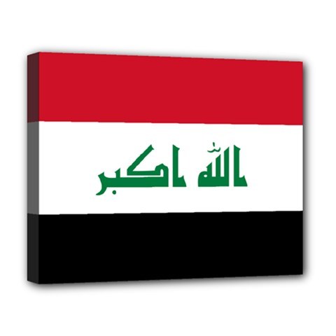 Flag Of Iraq  Deluxe Canvas 20  X 16   by abbeyz71