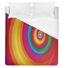 Circle Rainbow Color Hole Rasta Duvet Cover (queen Size) by Mariart