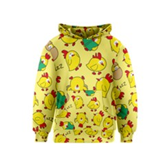Animals Yellow Chicken Chicks Worm Green Kids  Pullover Hoodie by Mariart