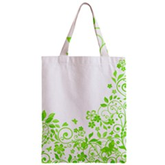Butterfly Green Flower Floral Leaf Animals Zipper Classic Tote Bag by Mariart