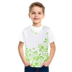 Butterfly Green Flower Floral Leaf Animals Kids  Sportswear