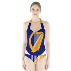 Coat Of Arms Of Ireland Halter Swimsuit by abbeyz71