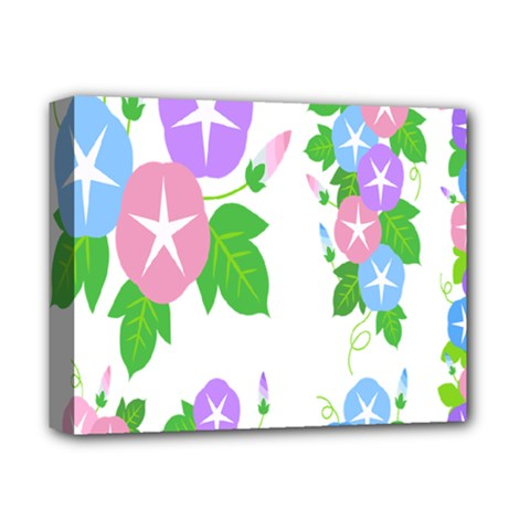 Flower Floral Star Purple Pink Blue Leaf Deluxe Canvas 14  X 11  by Mariart