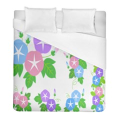 Flower Floral Star Purple Pink Blue Leaf Duvet Cover (full/ Double Size) by Mariart