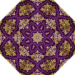 Flower Purplle Gold Straight Umbrellas by Mariart