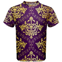 Flower Purplle Gold Men s Cotton Tee by Mariart