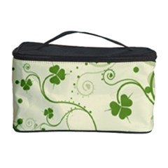 Flower Green Shamrock Cosmetic Storage Case by Mariart