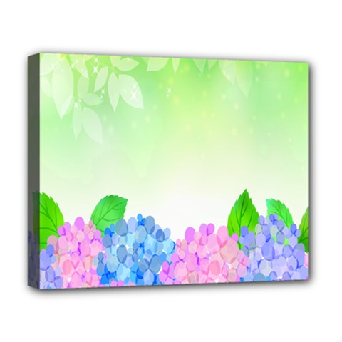 Fruit Flower Leaf Deluxe Canvas 20  X 16   by Mariart