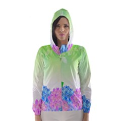 Fruit Flower Leaf Hooded Wind Breaker (women) by Mariart