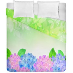 Fruit Flower Leaf Duvet Cover Double Side (california King Size) by Mariart