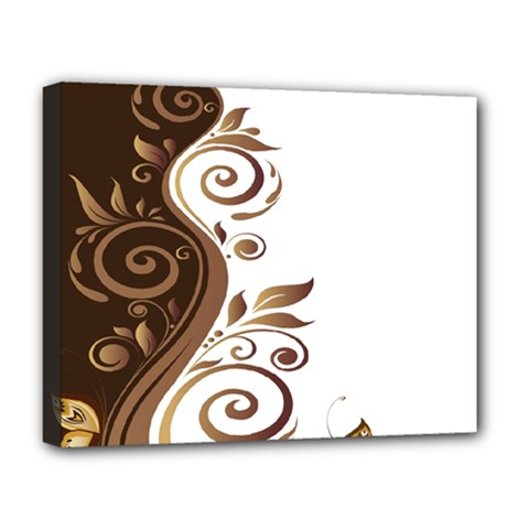 Leaf Brown Butterfly Deluxe Canvas 20  X 16   by Mariart