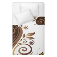 Leaf Brown Butterfly Duvet Cover Double Side (single Size) by Mariart