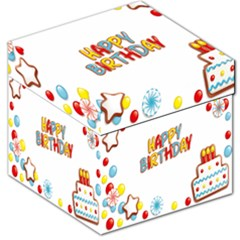 Happy Birthday Storage Stool 12   by Mariart