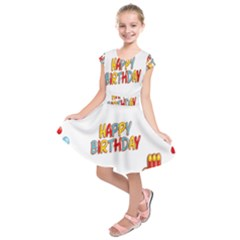 Happy Birthday Kids  Short Sleeve Dress by Mariart