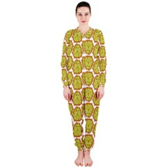 Horned Melon Green Fruit Onepiece Jumpsuit (ladies)  by Mariart