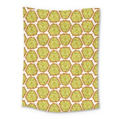 Horned Melon Green Fruit Medium Tapestry by Mariart