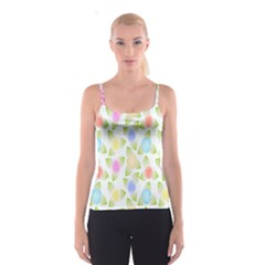 Fruit Grapes Purple Yellow Blue Pink Rainbow Leaf Green Spaghetti Strap Top by Mariart