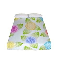 Fruit Grapes Purple Yellow Blue Pink Rainbow Leaf Green Fitted Sheet (full/ Double Size) by Mariart