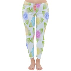 Fruit Grapes Purple Yellow Blue Pink Rainbow Leaf Green Classic Winter Leggings by Mariart
