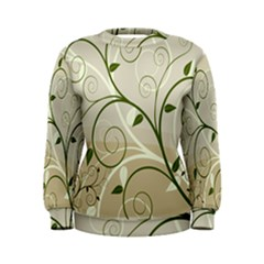 Leaf Sexy Green Gray Women s Sweatshirt by Mariart