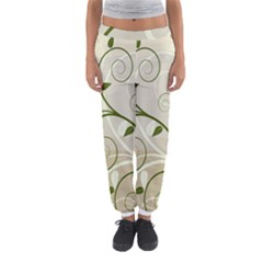 Leaf Sexy Green Gray Women s Jogger Sweatpants by Mariart