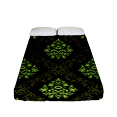 Leaf Green Fitted Sheet (full/ Double Size) by Mariart