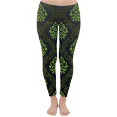 Leaf Green Classic Winter Leggings by Mariart