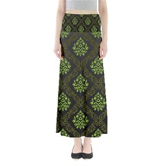 Leaf Green Maxi Skirts by Mariart