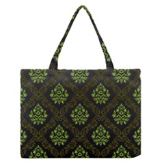 Leaf Green Medium Zipper Tote Bag by Mariart
