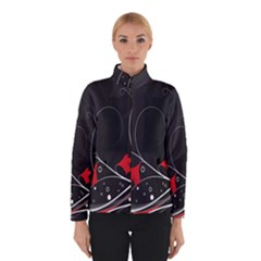Star Red Flower Floral Black Leaf Polka Circle Winterwear by Mariart