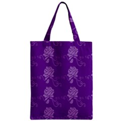 Purple Flower Rose Sunflower Zipper Classic Tote Bag by Mariart