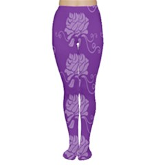 Purple Flower Rose Sunflower Women s Tights by Mariart