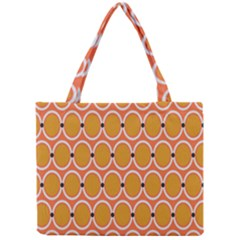 Orange Circle Polka Mini Tote Bag by Mariart
