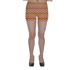 Orange Circle Polka Skinny Shorts by Mariart