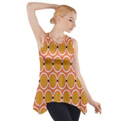 Orange Circle Polka Side Drop Tank Tunic by Mariart