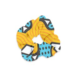 Wave Chevron Orange Blue Circle Plaid Polka Dot Velvet Scrunchie by Mariart