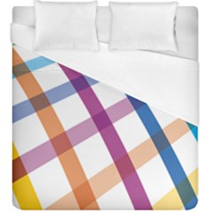 Webbing Line Color Rainbow Duvet Cover (king Size)