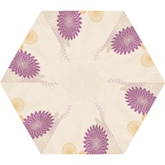 Star Sunflower Floral Grey Purple Orange Mini Folding Umbrellas by Mariart