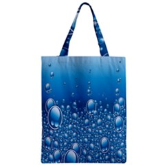 Water Bubble Blue Foam Zipper Classic Tote Bag by Mariart