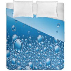 Water Bubble Blue Foam Duvet Cover Double Side (california King Size) by Mariart