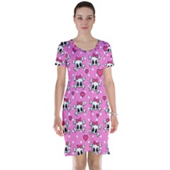 Cute Skulls  Short Sleeve Nightdress