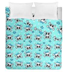 Cute Skull Duvet Cover Double Side (queen Size) by Valentinaart
