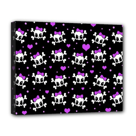 Cute Skull Deluxe Canvas 20  X 16