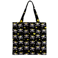 Cute Skull Grocery Tote Bag by Valentinaart