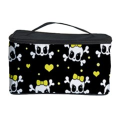 Cute Skull Cosmetic Storage Case by Valentinaart