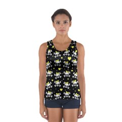 Cute Skull Women s Sport Tank Top  by Valentinaart