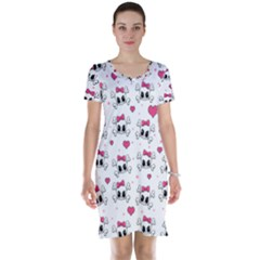Cute Skull Short Sleeve Nightdress